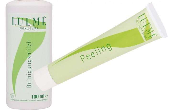 Lueme Reinigungsmilch und Peeling