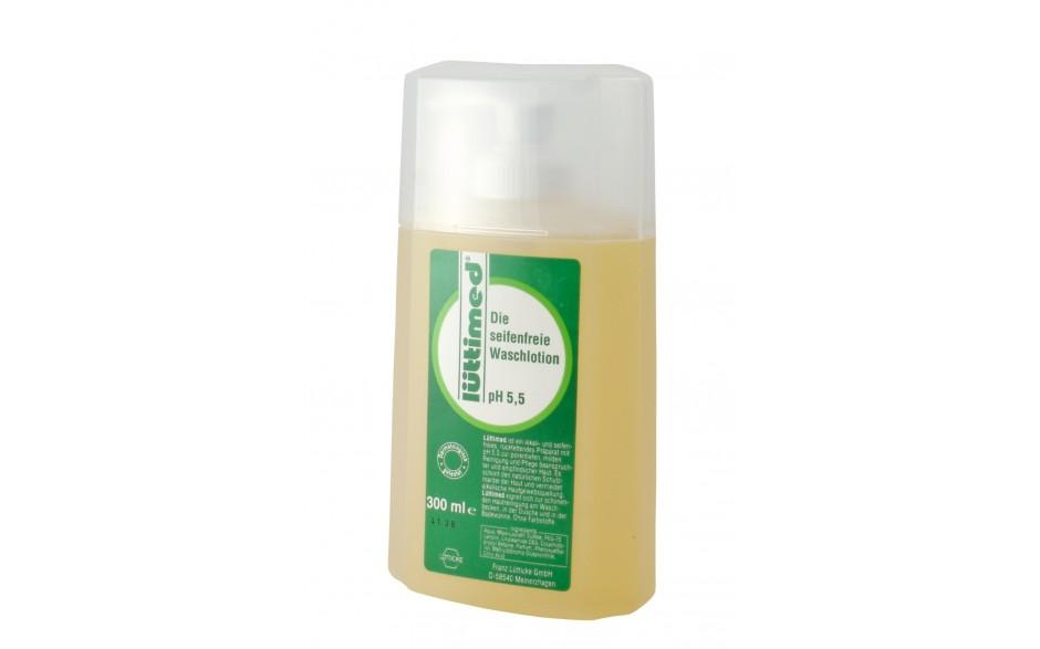Lüttimed Seife in der Standflasche mit Spender